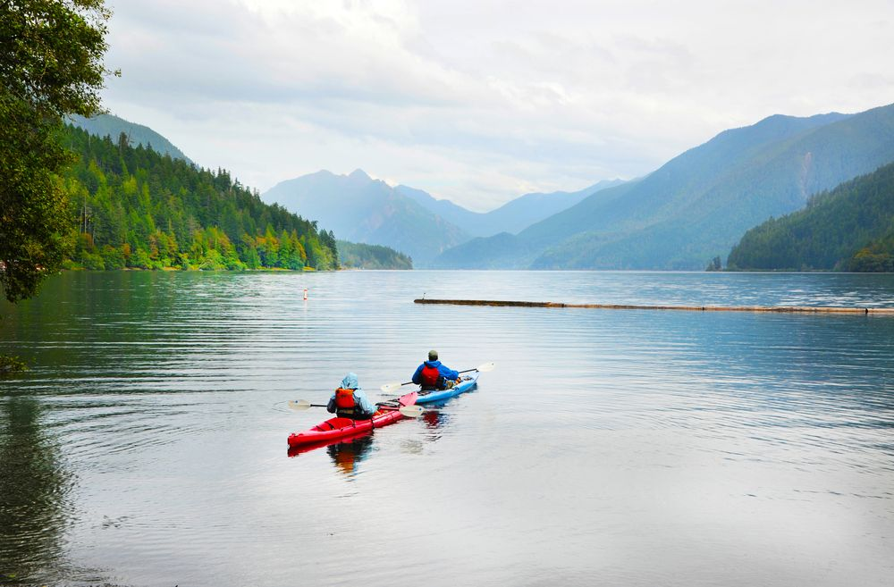 Kayaking on Crescent Lake in Olympic Park