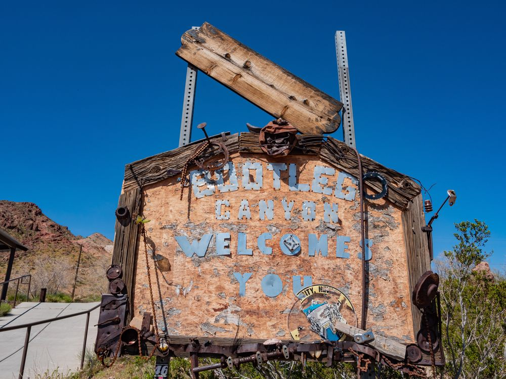 A Sign in Bootleg Canyon