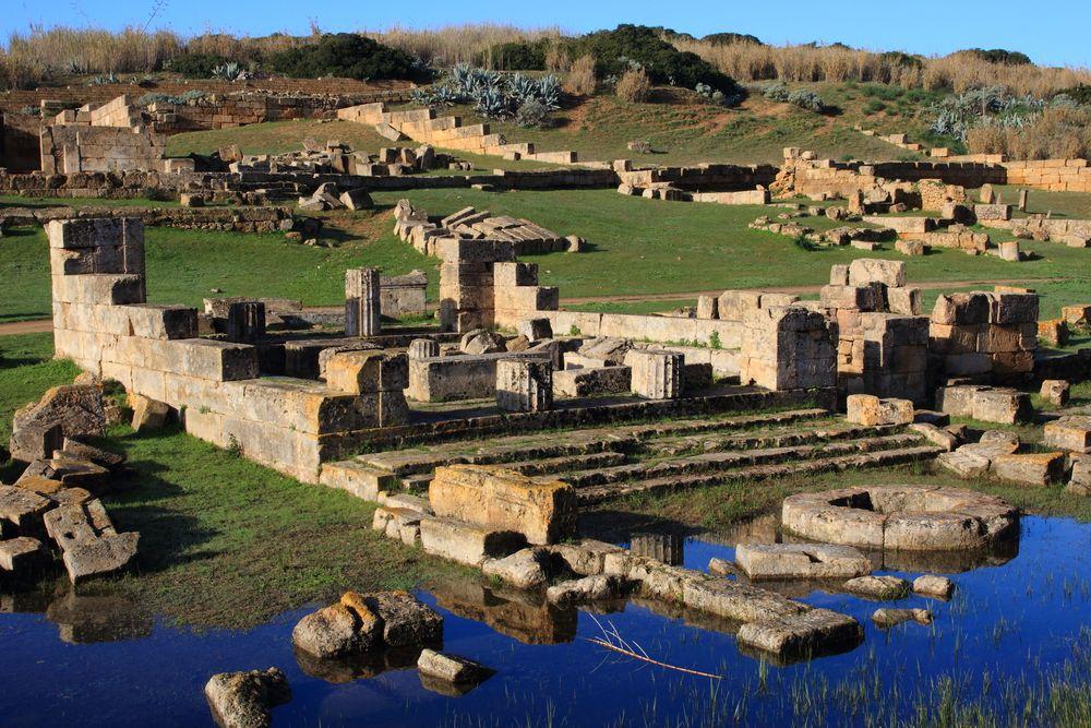 Ruins of Greek Temple in Sicily