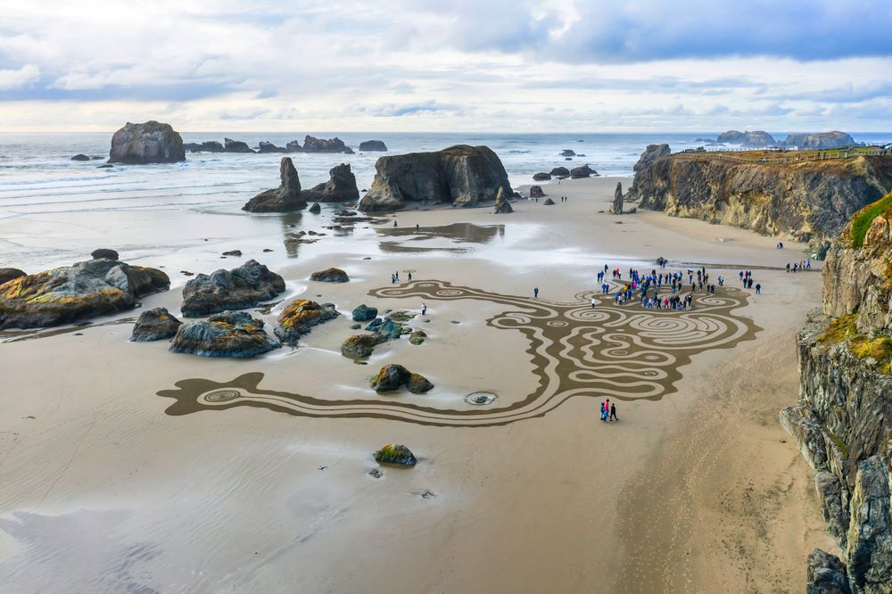 Circles in the Sand in Bandon, Oregon