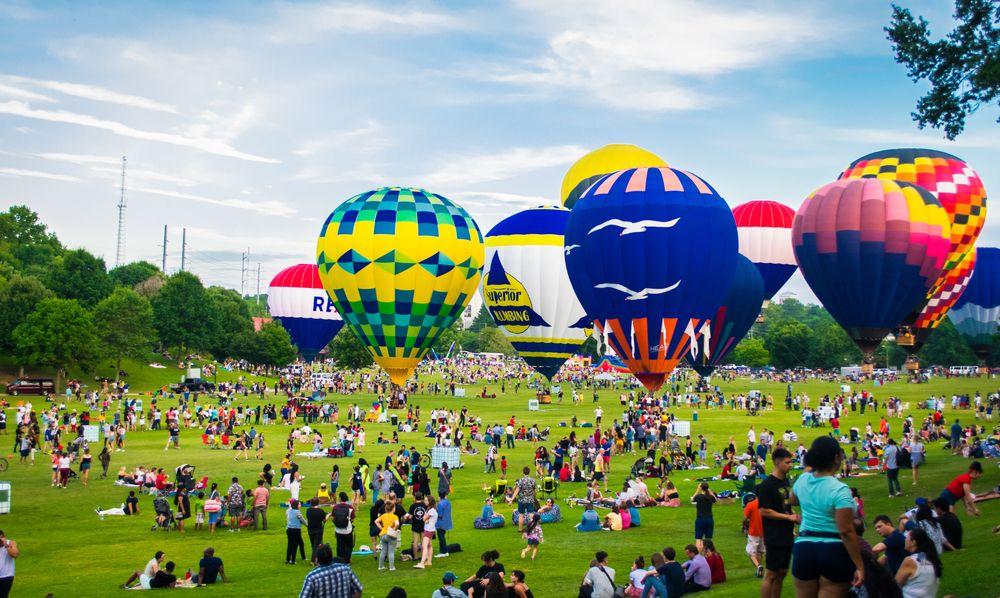 Balloon Festival in Piedmont Park