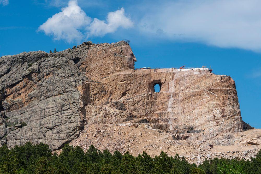 View of Crazy Horse Memorial in South Dakota
