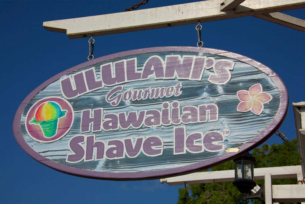 A Sign of Ululani's Shave Ice