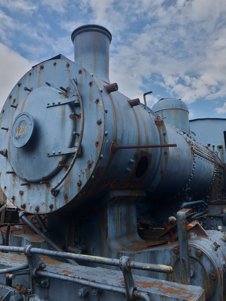 Old engine in Oklahoma Railway Museum