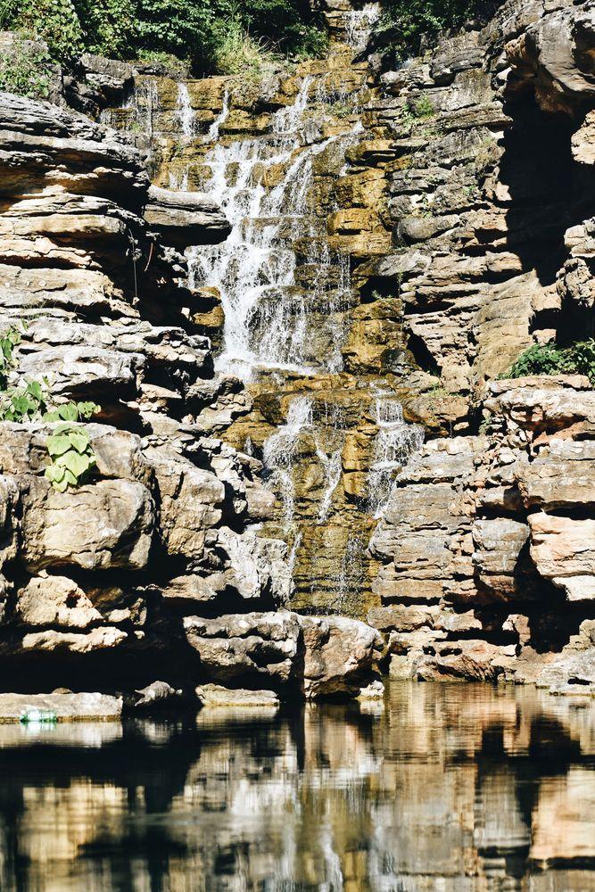 Waterfall at Table Rock Lake