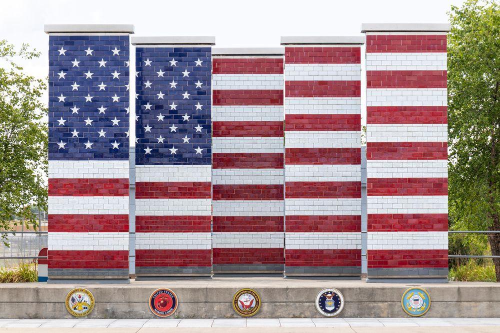 Veterans Freedom Flag Monument  in Lima, Ohio