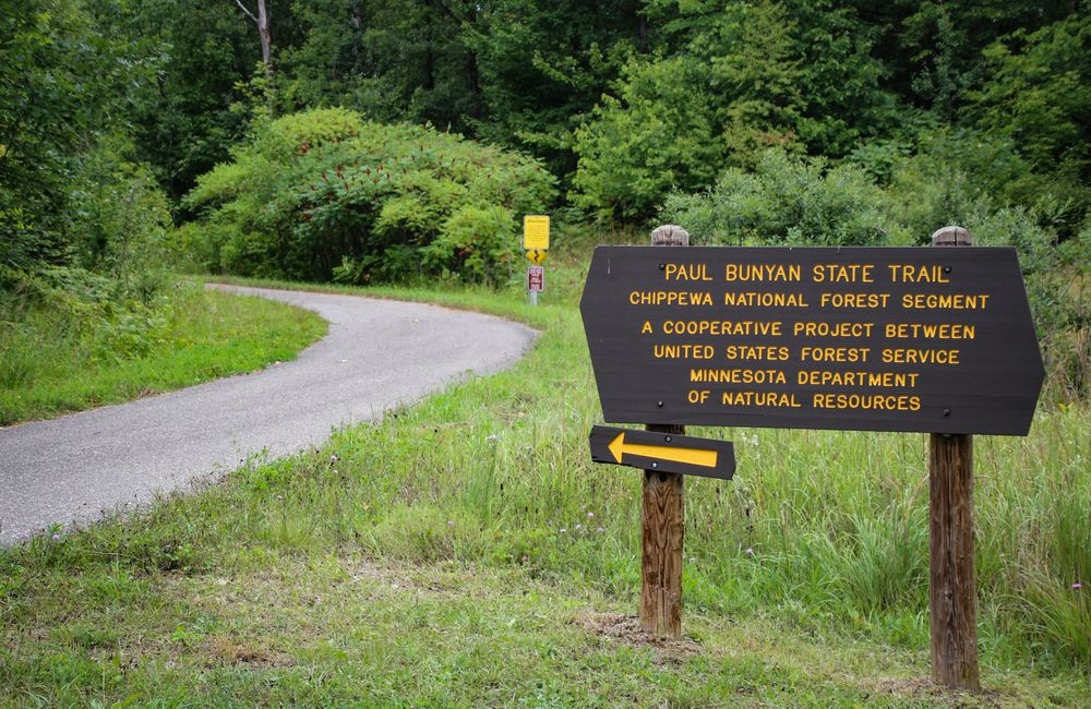 A Sign in Paul Bunyan State Trail