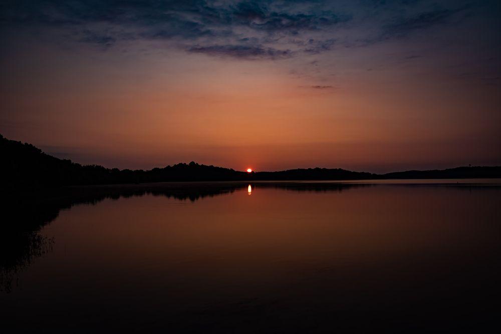 Sunset in Beaverfork Lake Park