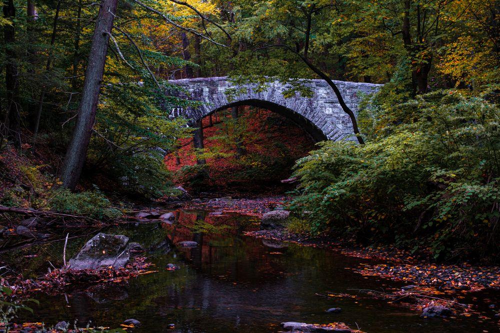 Rock Bridge in Rockefeller State Park Preserve