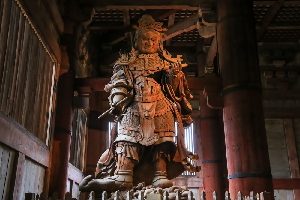 A Statue in Todai-ji