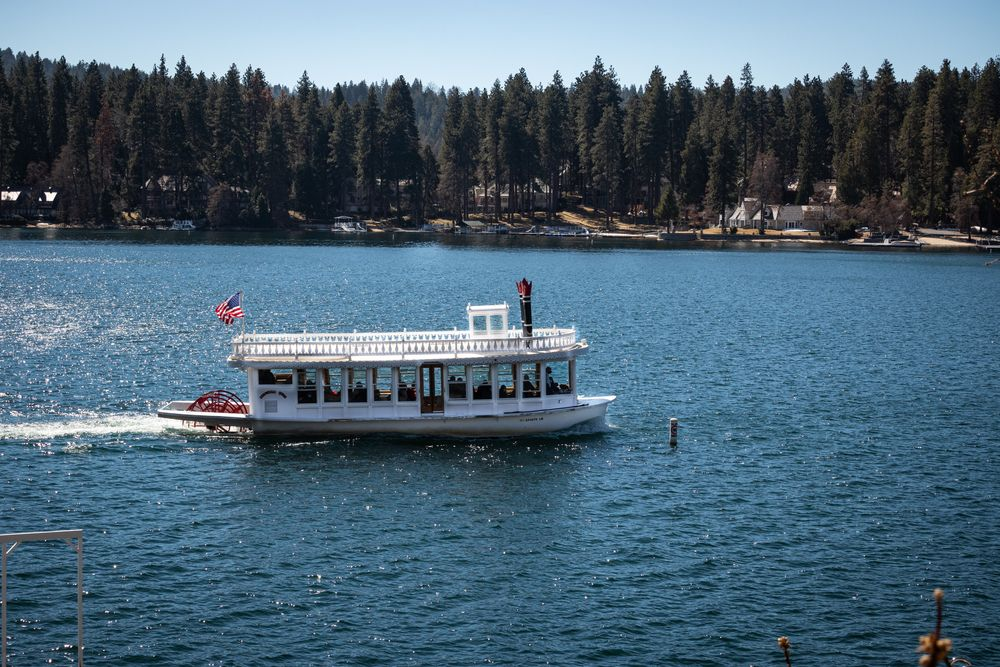 View of  Lake Arrowhead Queen in a Lake