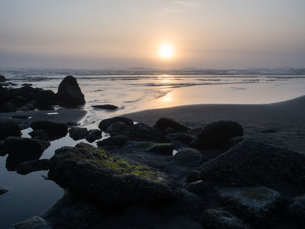 Sunset in North Jetty