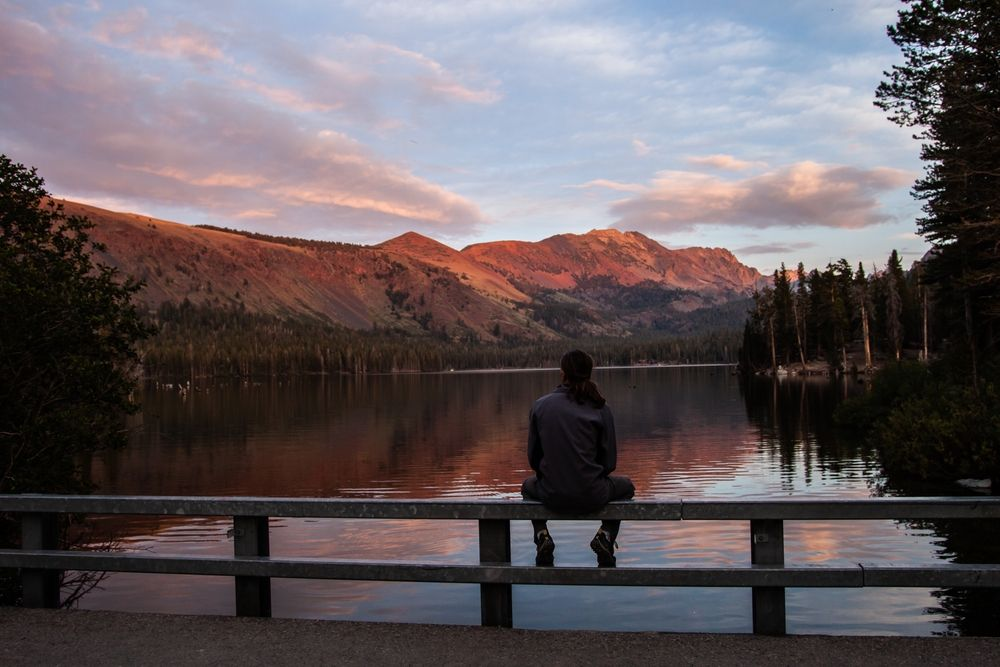 Man Watching Lake Mary