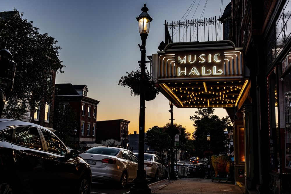Outside View of  Tarrytown Music Hall