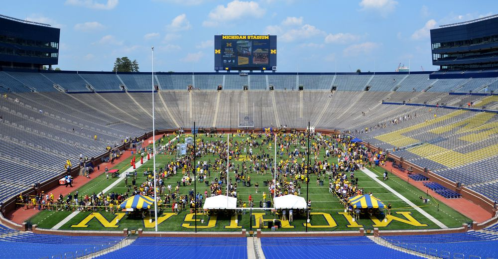 Wide view of Michigan Stadium