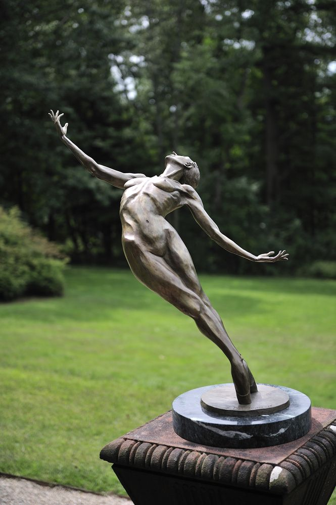Sculpture in the garden at Ventfort Hall and Gilded Age Museum