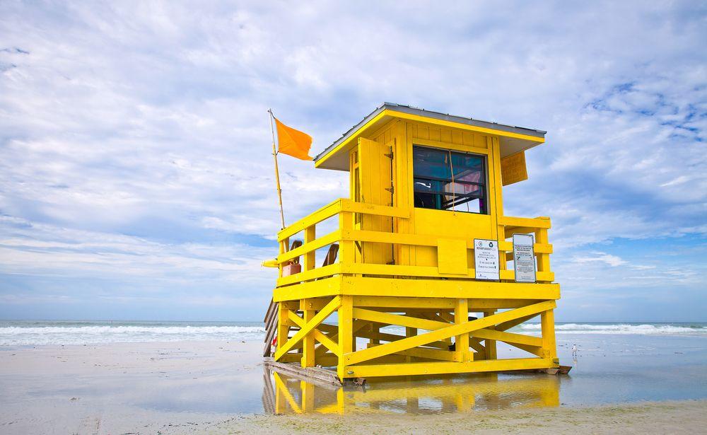 Lifeguard house at Siesta Key Beach