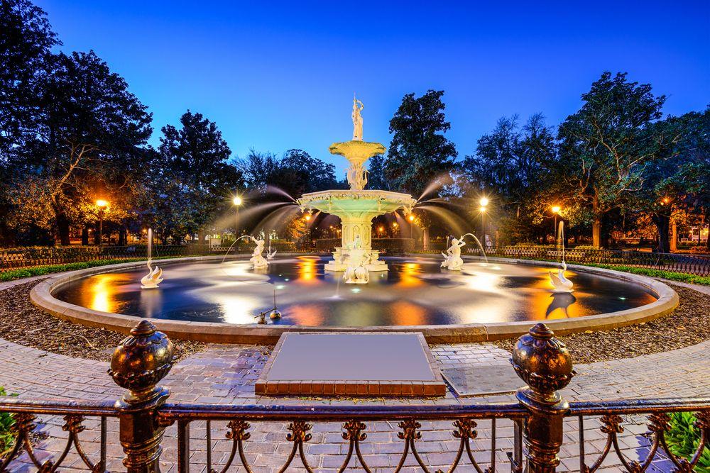 Forsyth Park Fountain in Savannah, GA