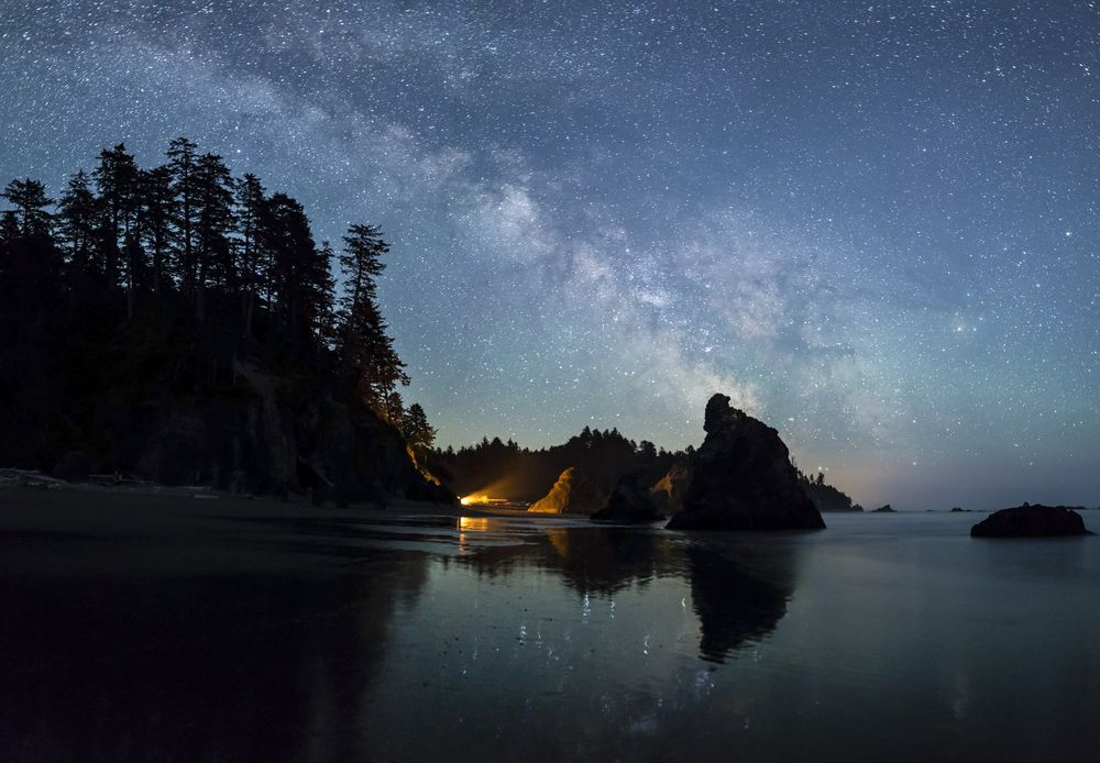 Milky Way on Ruby Beach in Olympic National Park