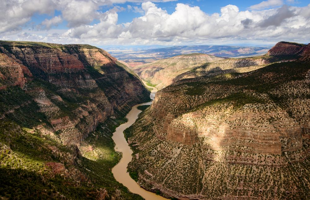 Aerial View of Dinosaur National Monument