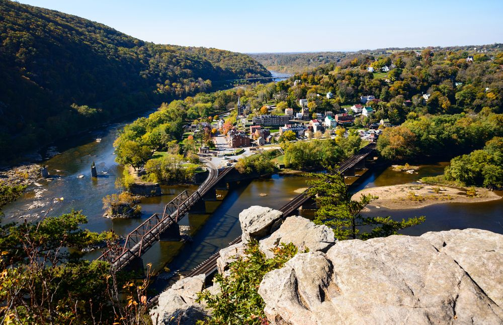 Aerial View at Harpers Ferry National Historical Park
