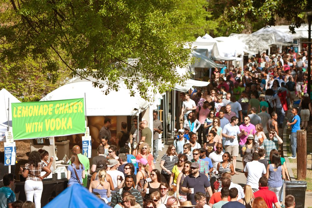 Crowd in Atlanta Dogwood Festival