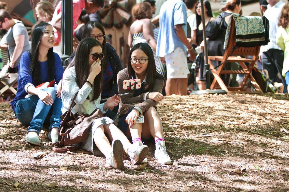 Asian Girls in Atlanta Dogwood Festival