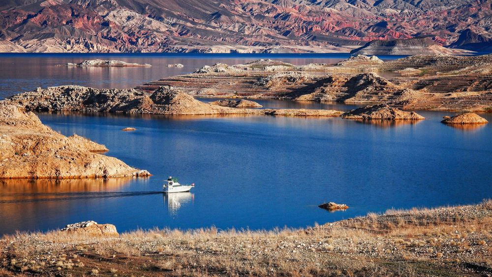 Boat in Lake Mead National Recreation Area