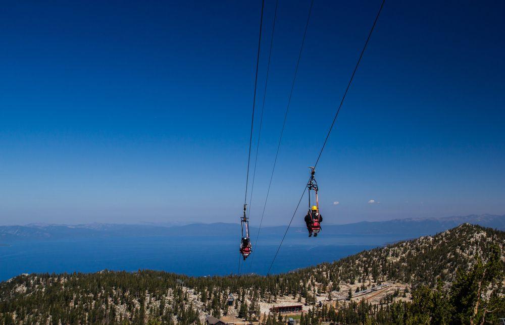 Ziplining in Lake Tahoe