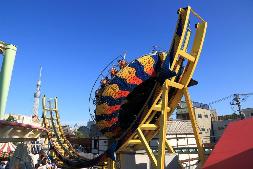 View of Hanayashiki Amusement Park