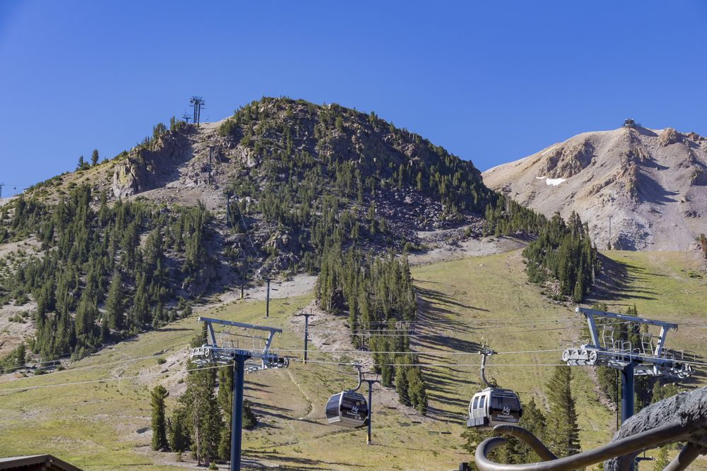 Cable cars near Adventure center in Mammoth Lake