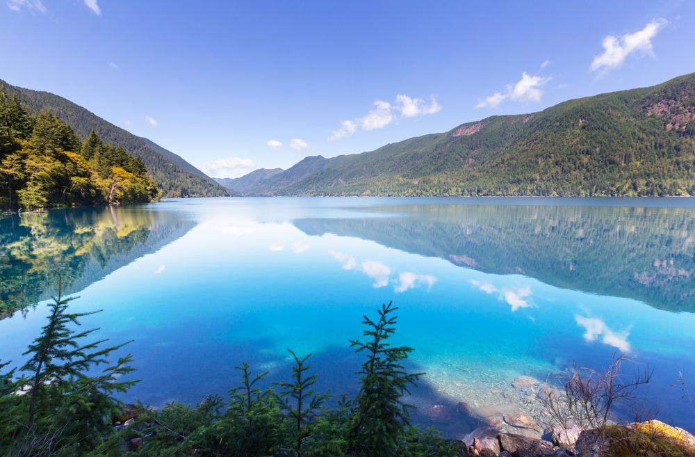 Lake Crescent in Olympic National Park, Washington