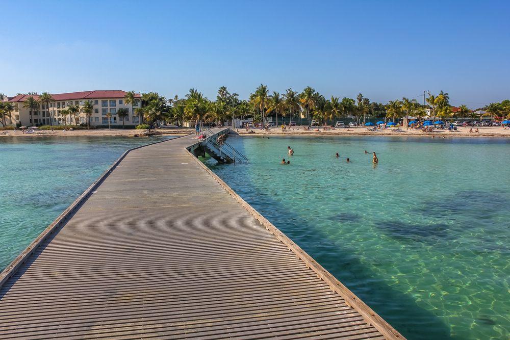 Beautiful view of Higgs Beach in Key West.