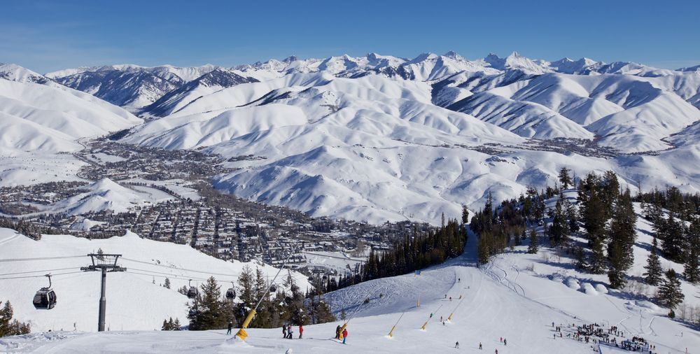 Snowy Mountains in Sun Valley