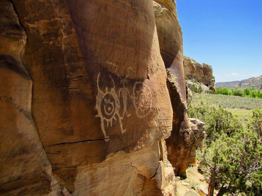 Petroglyphs at McConkie Ranch,