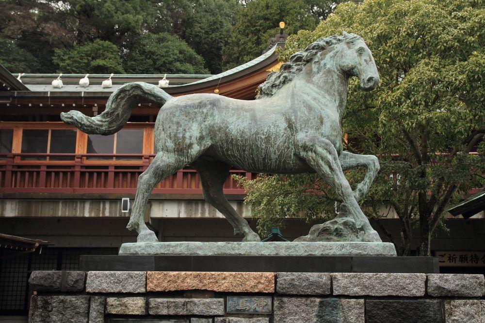 Sacred horse in Suwa