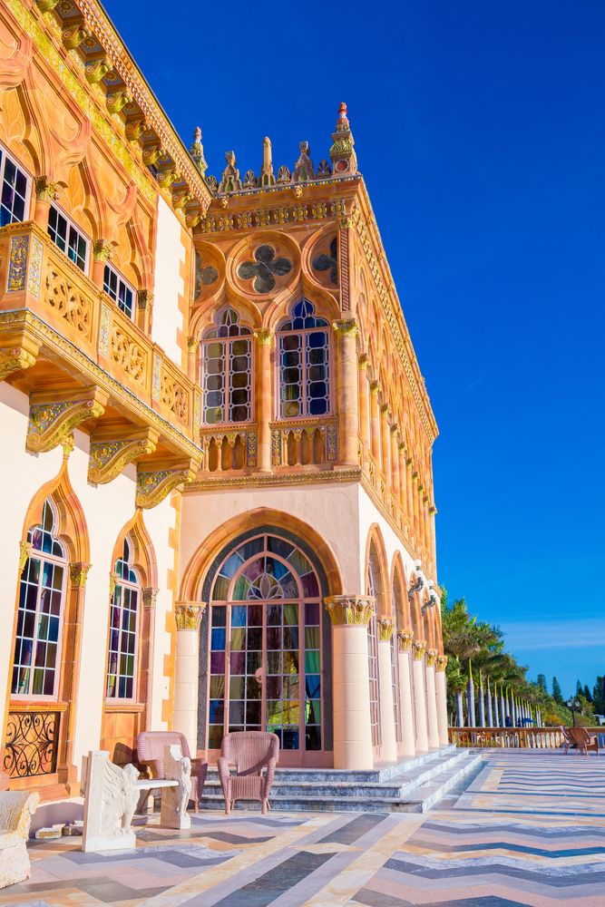 Closer view of The John and Mable Ringling Museum of Art in Sarasota