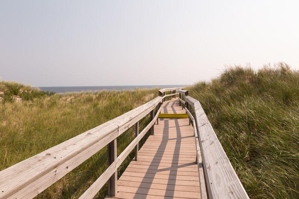 A boardwalk in Parker River National Wildlife Refuge