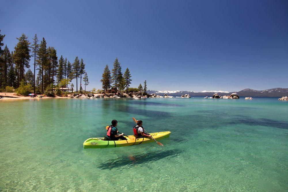 Kayaking by the Lake Tahoe