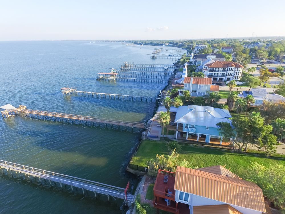 Aerial View of Kemah Lighthouse District