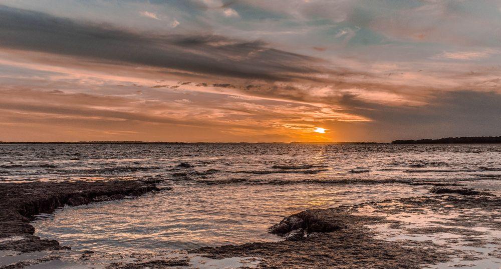 Sunset in Folly Beach County Park