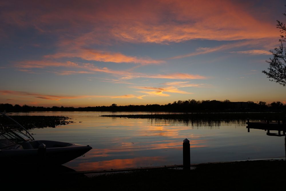 Sunset in Winter Haven Chain of Lakes