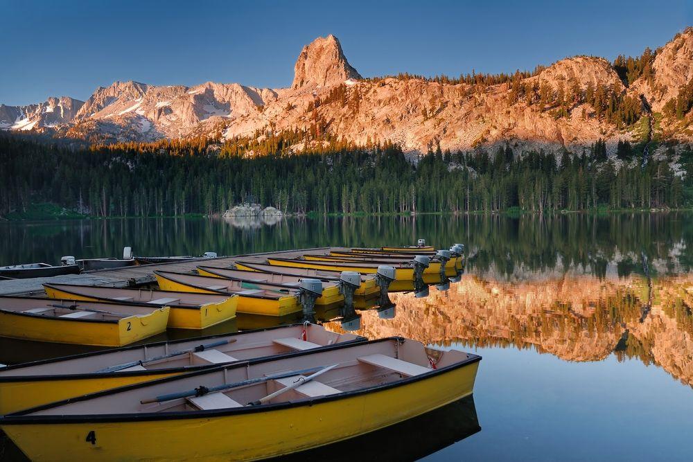 Kayaks in Lake Mary