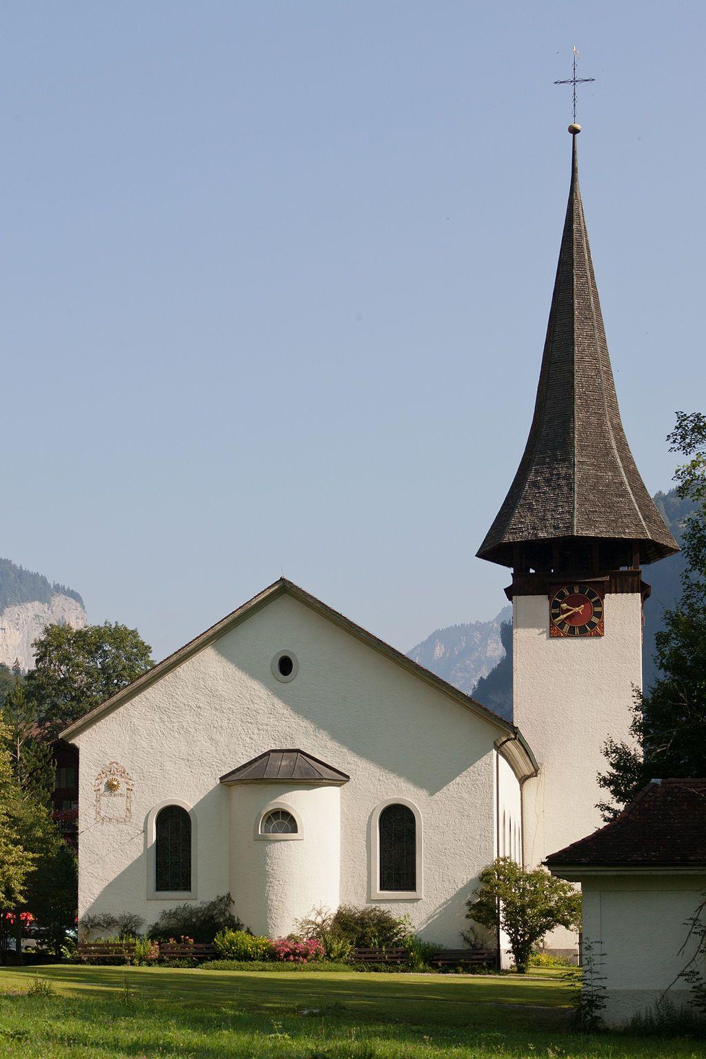 View of Lauterbrunnen Church