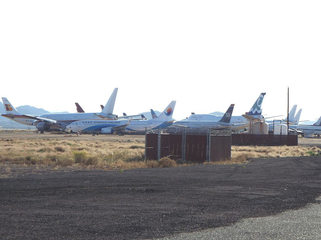 View of the Old Planes at Phoenix-Goodyear Airport Boneyard