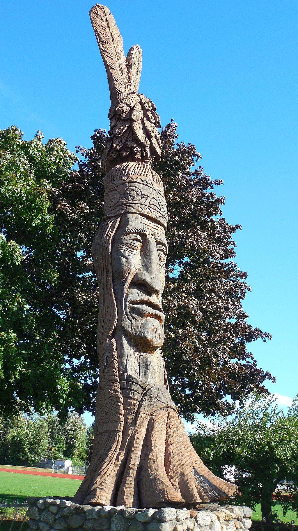 Statue in Opechee Park Cove Beach