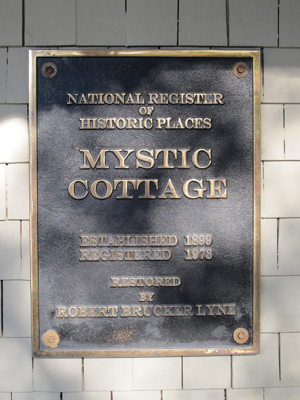 Sign of Mystic Cottage