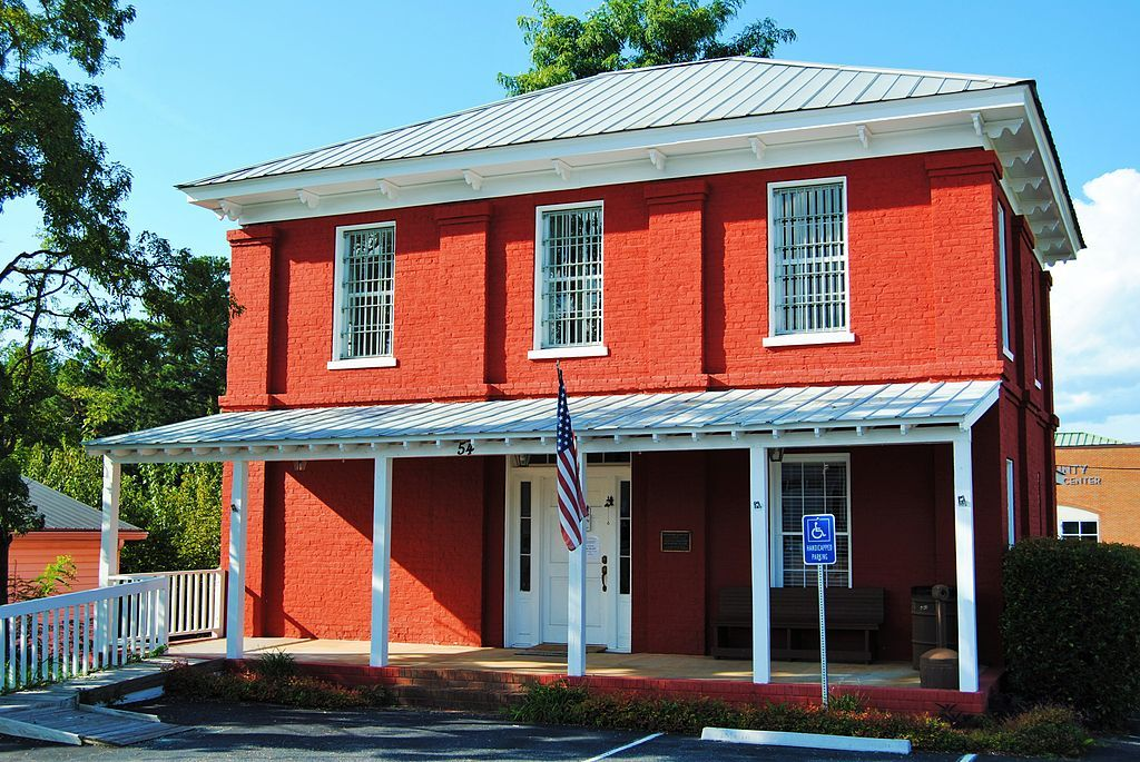 Outside View of Dawson County Historic Jail