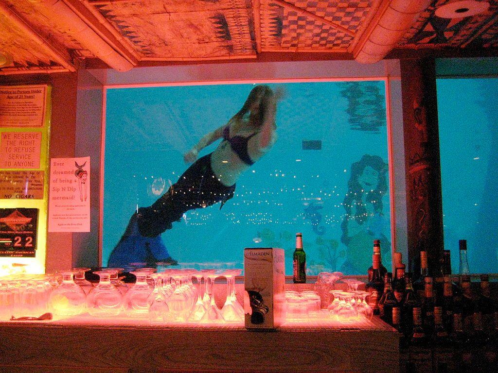 Fake Mermaids in Sip 'N Dip Lounge