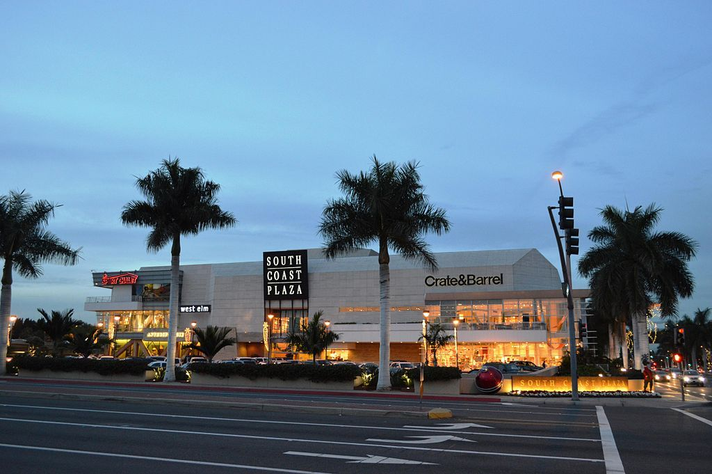 Outside View of South Coast Plaza